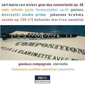 from the album weber gade donizetti brahms martinu clarinet works june