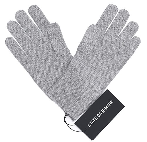 State Cashmere 100% Pure Cashmere Gloves, Cable Knit Design - Ultimate Soft and Warm