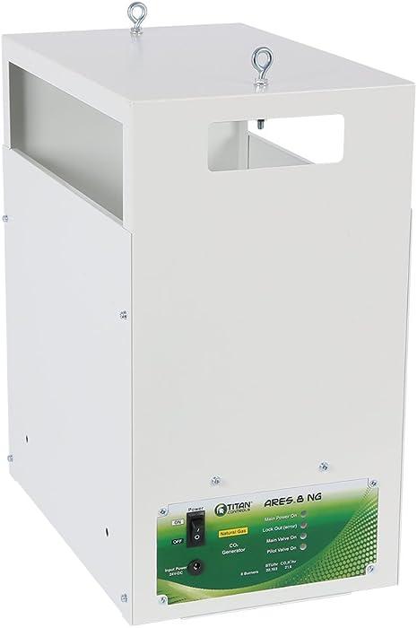 Titan ControlsHGC702866Ares 8Natural Gas CO2 Generator 8 Burner - 21.6 CUFT/HRWhite