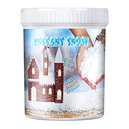 (TIME4DEALS Fake Instant Snow Powder for Slime, Makes 4 Gallons of Artificial Snow, for Colorful Slime, Science Activities, Parties & Decorating, Fake)