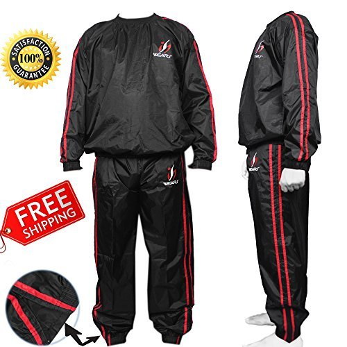 ISH Sports Heavy Duty Sweat Sauna Suit Gym Exercise Suit Fitness Weight Loss Sweating Track Suit Fitness Suit
