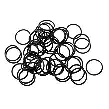 MagiDeal 50Pcs Wacky Worm Rig Tool Silicone O Rings Carp Barbel Coarse Fishing