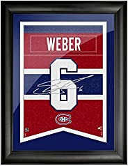 Montreal Canadiens Weber 12x16 Framed Player Number with Replica Autograph