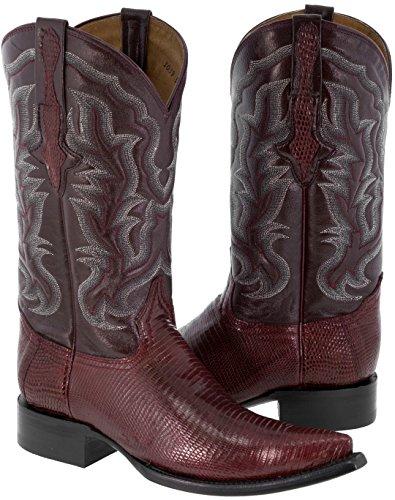 El Presidente - Men's Black Genuine Lizard Skin Leather Cowboy Boots 3X Toe 12.5 (Lizard Skin Cowboy Boots)