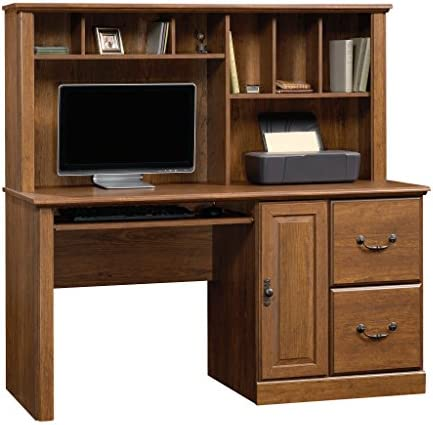 Sauder Orchard Hills Computer Desk with Hutch, L 58.74 x W 23.47 x H 57.24 , Milled Cherry