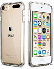 iPod Touch 7 Clear Case, iPod Touch 6 Case, iPod Touch 5 Case, ULAK Clear Slim Soft TPU Bumper PC Back Hybrid Case Cover for iPod Touch 5th / 6th / 7th Generation (Latest Model), Crystal Clear