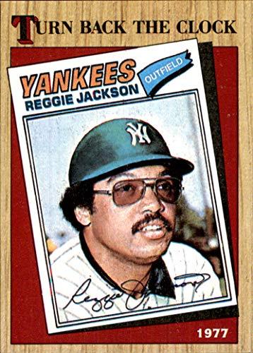 1987 Topps #312 Reggie Jackson TBC HOF NEW YORK YANKEES Turn Back the Clock 1977