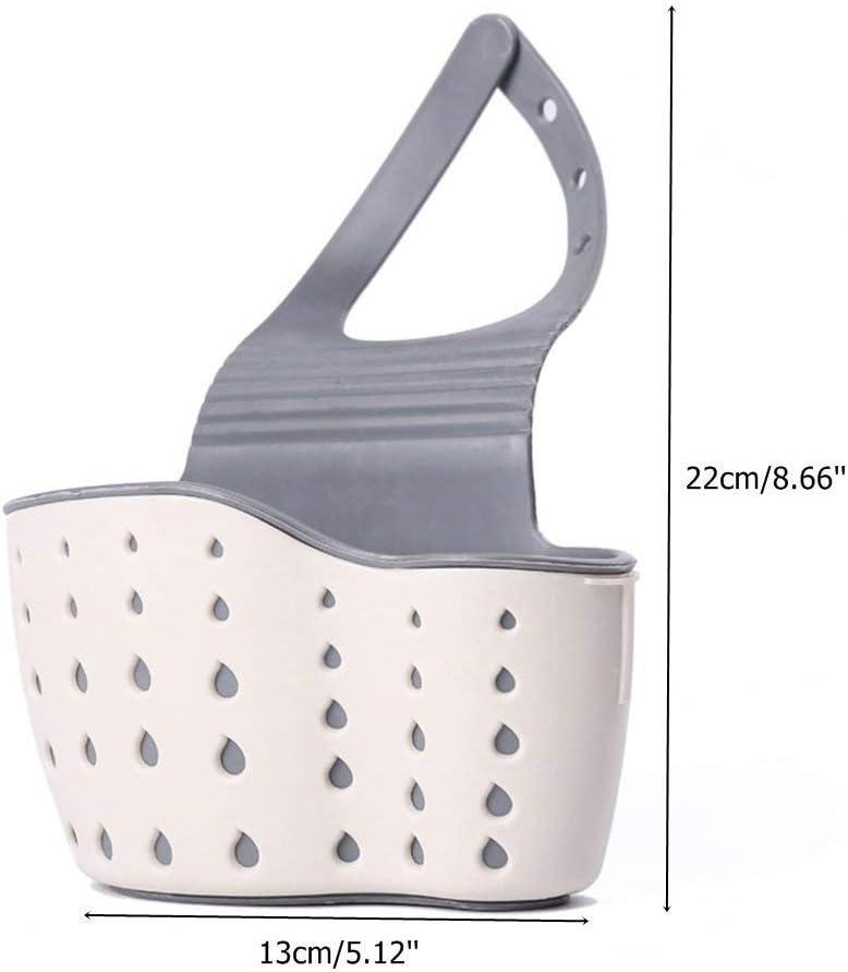 azul soporte de esponja para ba/ño HOVUK/® Organizador de cocina colgante cesta de almacenamiento para fregadero