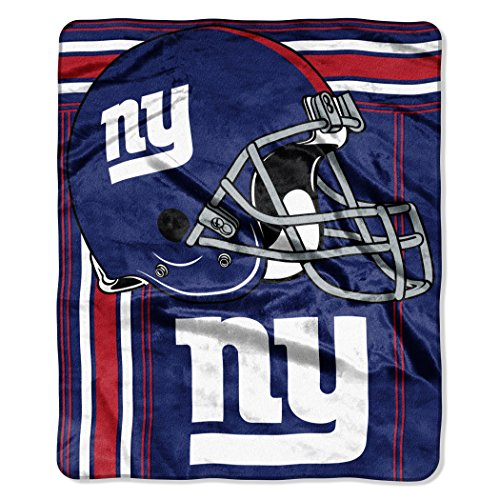 The Northwest Company NFL New York Giants Touchback Plush Raschel Throw, 50'' x 60'', Royal Blue by The Northwest Company