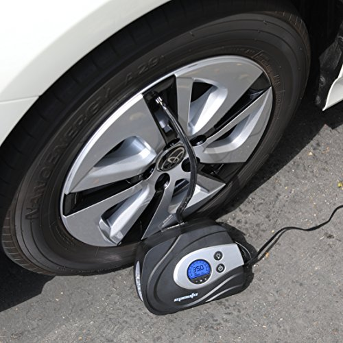 EPAuto 12V DC Auto Portable Air Compressor Pump Preset Digital Tire Inflator by 100 PSI for Compact//Midsize Sedan SUV