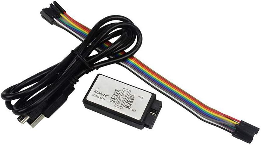 Kathleen0 Logic Analyzer Mini FPGA Debug Professional Tool Data Upload B Powered Arm Microcontroller Measuring Portable 24M 8H
