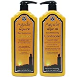 Agadir Argan Oil Daily Shampoo and Conditioner Liter Combo Set 33.8 oz
