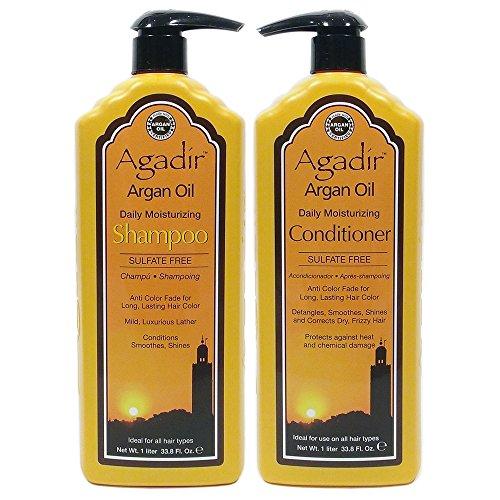 Color Protect Moisturizing Shampoo - Agadir Argan Oil Daily Moisturizing Shampoo 33.8 Oz + Conditioner 33.8 Oz