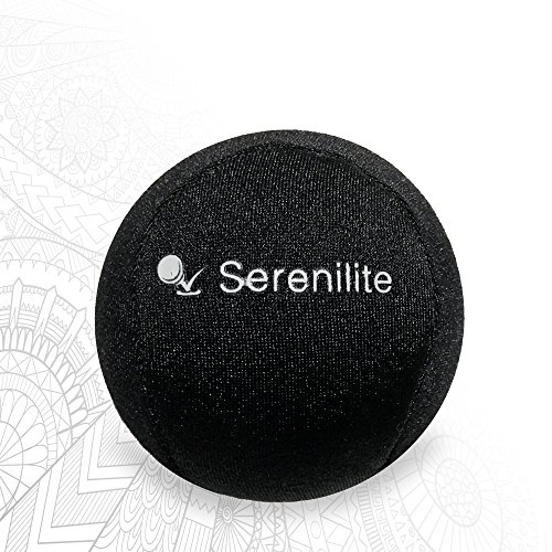 Serenilite Hand Therapy Stress Ball - Optimal Stress Relief - Great for Hand Exercises and Strengthening - Jet Black -