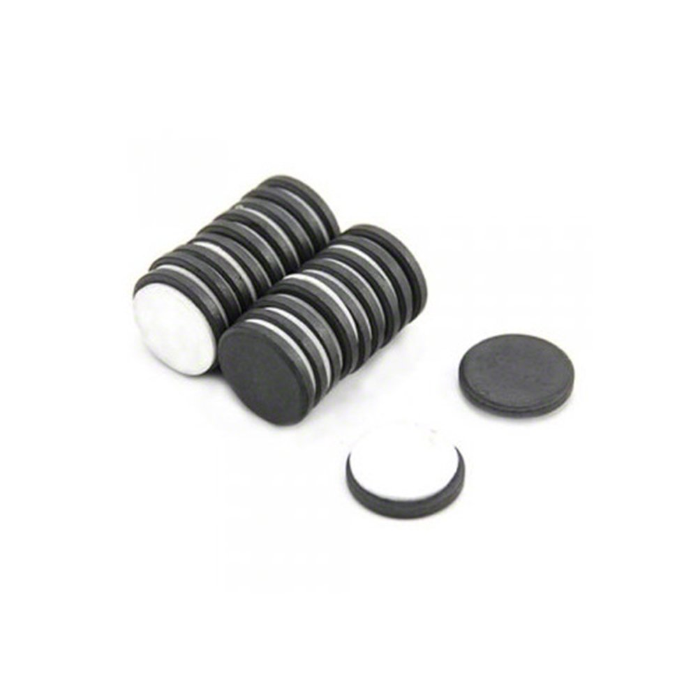 Magnet Expert/® 25mm dia x 5mm thick Y10 Ferrite Magnet with Adhesive Foam Pad Pack of 20 0.6kg Pull