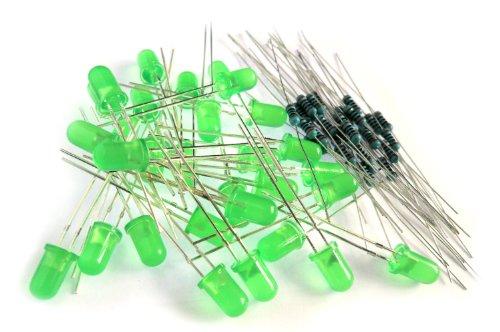 microtivity IL133 Diffused Green Resistors product image