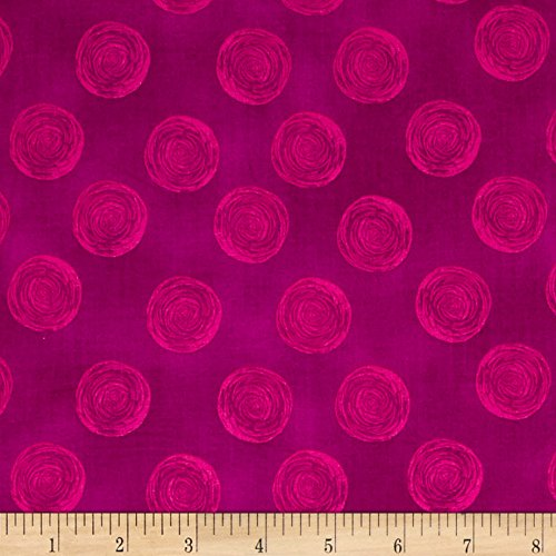Makers Home Ranunculus Magenta Fabric By The Yard