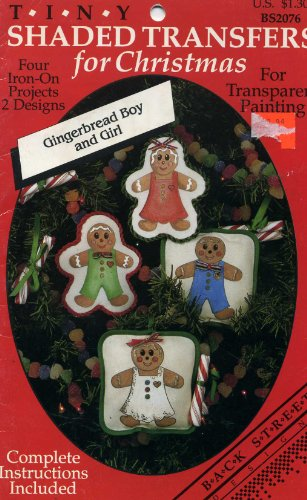 Gingerbread Boy and Girl (Tiny Shaded Transfers for Christmas, BS2076)