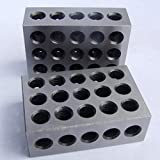 HFS 1 PAIR 123 BLOCKS 1-2-3 ULTRA PRECISION .0002 HARDENED 23 HOLES 0.0002""