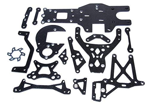 Hockus Accessories Carbon Fiber Upgrade Part Chassis Plate fit HPI KM ROVAN 5B 5T 5SC King Motor Truck 1/5 rc car