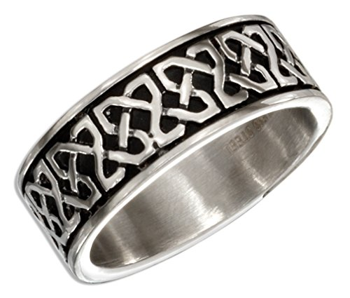 Stainless Steel Celtic Knots Wedding Band Ring