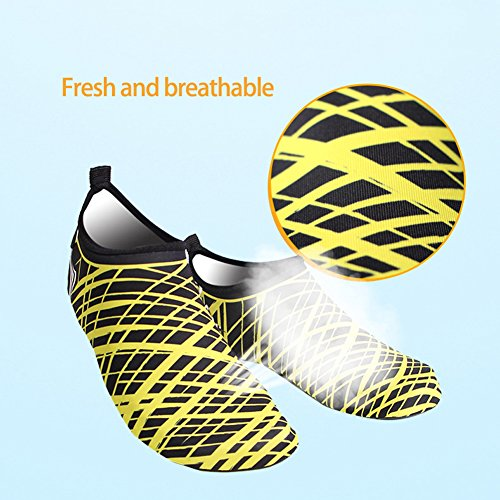 Flyingsky Unisex Quick-Dry Water Shoes Breathable Beach Shoes Diving Shoes Snorkeling Shoes for Water Sport White LghDQ2YC