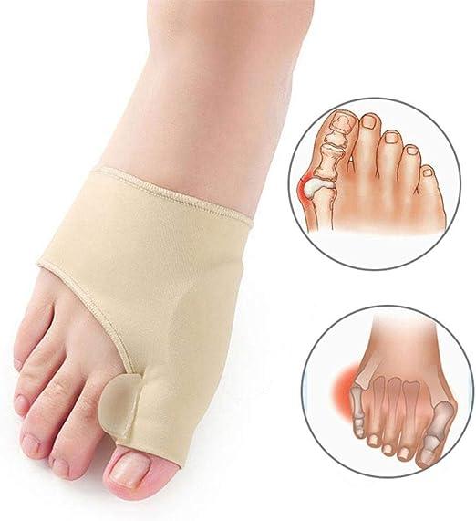 Tama/ño L 1 par de corrector de juanete de dedo gordo del pie Hallux Valgus Corrector de dedos grandes Alisadores Alivio del dolor F/érula de Hallux Valgus caqui