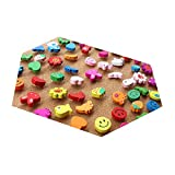 Set of 10 Colorful Varied Pushpins Decorative Push Pins, Random Delivery