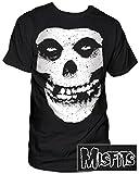 Impact Men's Misfits Skull and Logo Short Sleeve T-Shirt, Black, X-Large