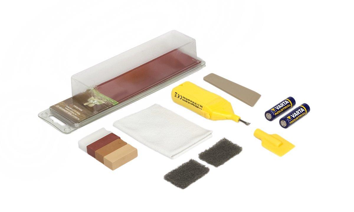 Picobello, Set di accessori per riparare superfici in legno (parquet, laminato, mobili, scale), G61612