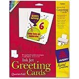 "Avery Quarter Fold Card - 4.25"" x 5.5"" - Matte - 20 / Pack - White"