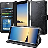 Galaxy Note 8 Case, K-Moze Galaxy Note 8 Wallet Case [4 Card Slots ] [Wrist Strap] [Stand Feature] PU Leather Flip Wallet Case Cover for Galaxy Note 8 - Black
