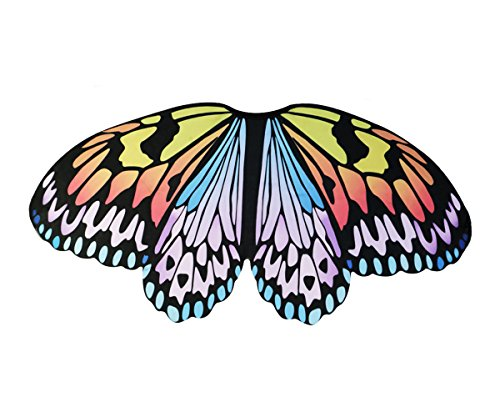 Kids Fairy Butterfly Wings Costume for Girls - Animal Dress Up Party Supplies (Rainbow) -