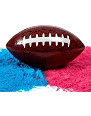 Gender Reveal Football With Pink & Blue Powder - Includes Team Boy and Girl Voting Stickers - Baby Reveal Party Ideas