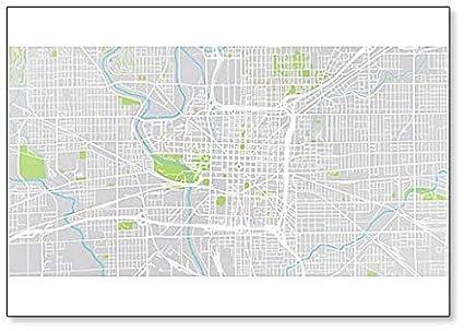 Amazoncom Urban City Map Of Indianapolis Indiana United States - Us-map-indianapolis