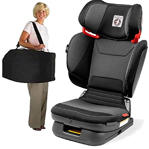 Peg Perego -Cary Viaggio Flex 120 Child Booster Seat with Carrying Bag – Crystal Black