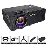 ONE-MIX Proyector Portátil, Mini HD Projector Multimedia 1080P, 2400 Lúmenes LED Video Proyector para Home Cinema Teatro soporta USB/TF/HDMI/AV Port