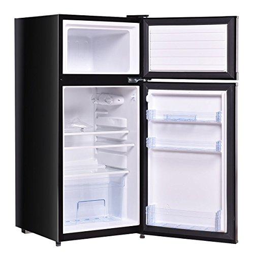 2 Doors 3.4 cu ft. Unit Cold-rolled Sheet Compact Mini Refrigerator