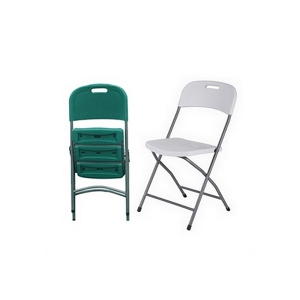 2 x Palm Springs Outdoors Deluxe Folding Plastic Chairs Green