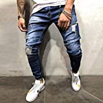 Jeans for Men, Teen Boys Fashion Skinny Jeans Washed Stretch Slim Fit Ripped Distressed BikerJeans Denim Pants