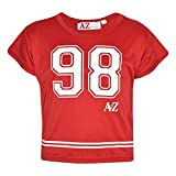 A2Z 4 Kids� Girls Top Kids 98 Print Stylish Fahsion Trendy T Shirt Crop Top New Age 5 6 7 8 9 10 11 12 13 Years