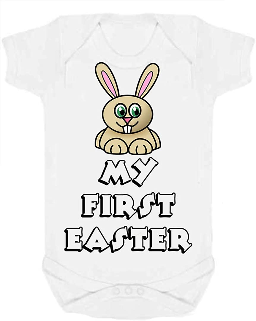My First Easter Baby//Toddler Vest Grow can be Personalised Size 3-6 Months White