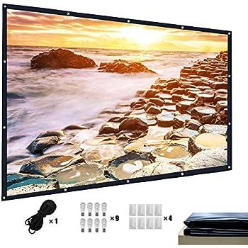 Free Shipping Mdbebbron 120 inch Projection Screen 16:9 HD Foldable Anti-Crea..