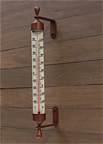 Large 16 Inch Garden Tube Thermometer (Bronze) - Buy ...