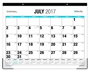 Amazon Com Blue Sky 2017 2018 Academic Year Monthly Desk