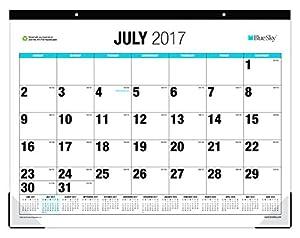 Amazon Com Blue Sky 2017 2018 Academic Year Monthly Desk