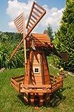 Windmühle holländische Art 1,6m kugelgelagert, impräg.