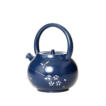 WenBin Festival de gres Azul Tetera de Corbata Grande Juego de té ...