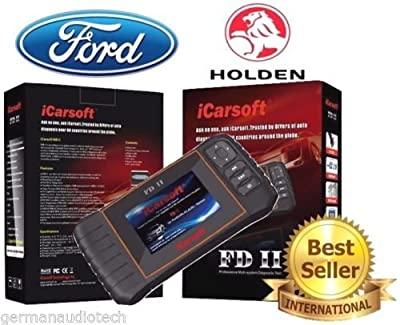 New Version iCARSOFT FDII for FORD HOLDEN OBD2 DIAGNOSTIC SCANNER TOOL ERASE FAULT CODES SERVICE RESET BEST #1 by GERMAN AUDIO TECH