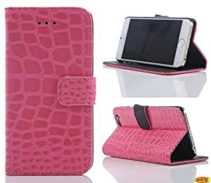 Welity Crocodile Skin Design PU Leather Luxury Wallet Case Cover For Apple iPhone 6 (4.7-inch) and one gifts(Pink)